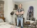 Paul Westra in hotelkamers Oude Ubicapand Utrecht opdr nummer 20